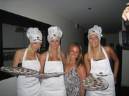 Cake Poker girls serving cake